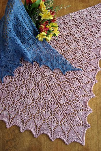 Allegro yarns fiber trends flower basket shawl flower basket shawl dt1010fo